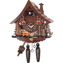 Cuckoo Clock Quartz-movement Chalet-Style 25cm by Engstler