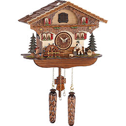 Cuckoo Clock Quartz-movement Chalet-Style 25cm by Trenkle Uhren