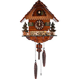 Cuckoo Clock Quartz-movement Chalet-Style 29cm by Anton Schneider