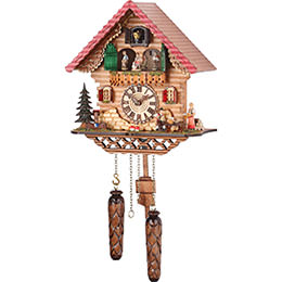 Cuckoo Clock Quartz-movement Chalet-Style 29cm by Trenkle Uhren
