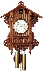 Antique replica clock with 8-day-movement by Rombach & Haas