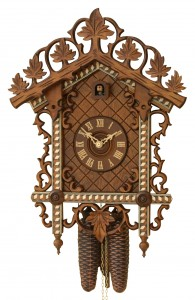 Railway house clock with 8-day-movement by Rombach & Haas