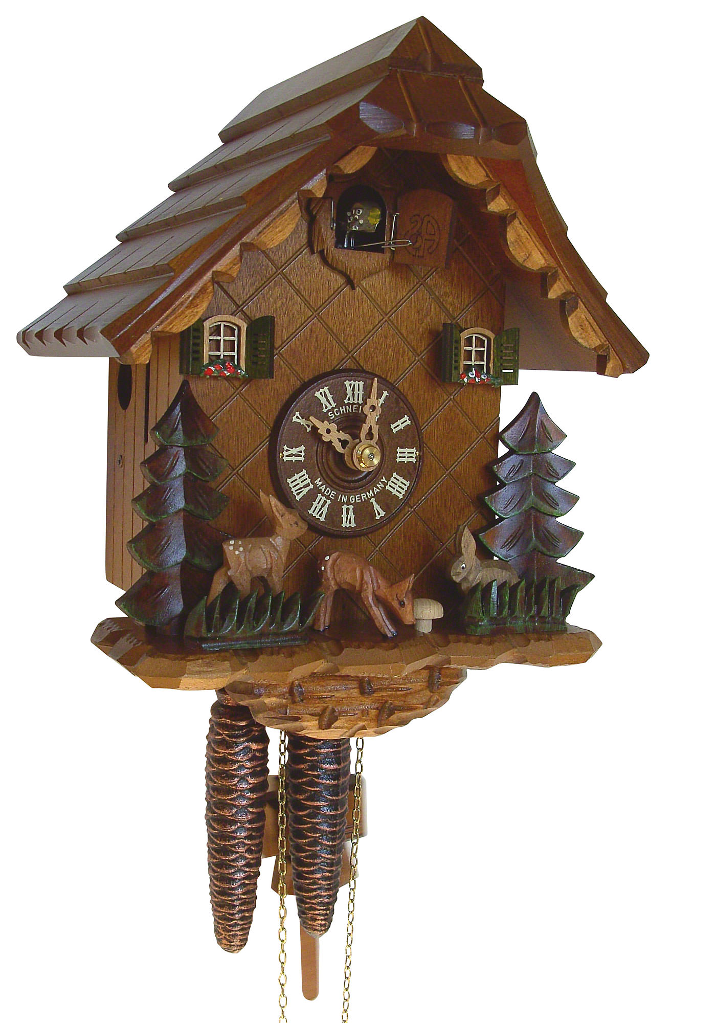 Cuckoo Clock 1-day-movement Chalet-Style 24cm by Anton ...