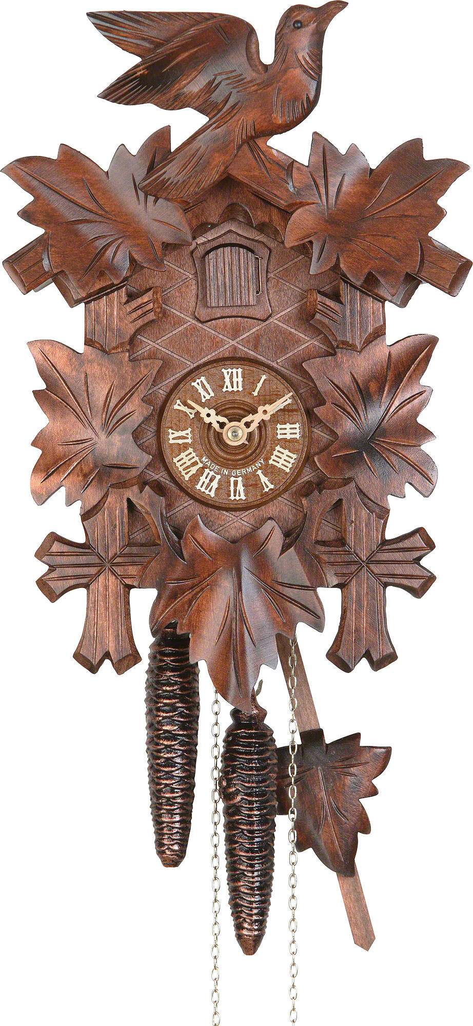 Cuckoo Clock 1-day-movement Carved-Style 21cm by Hekas ...