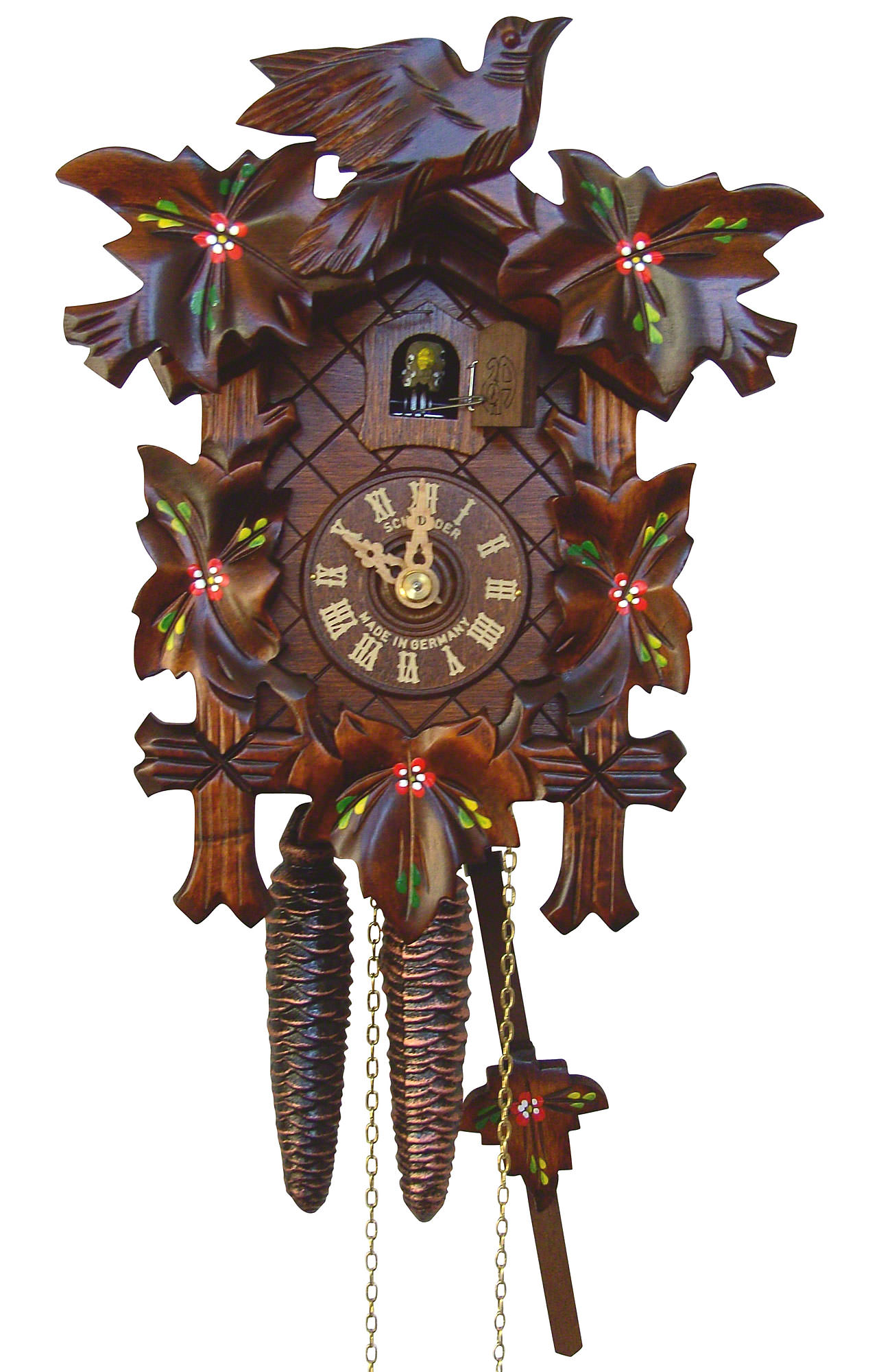 Cuckoo Clock 1-day-movement Carved-Style 23cm by Anton ...
