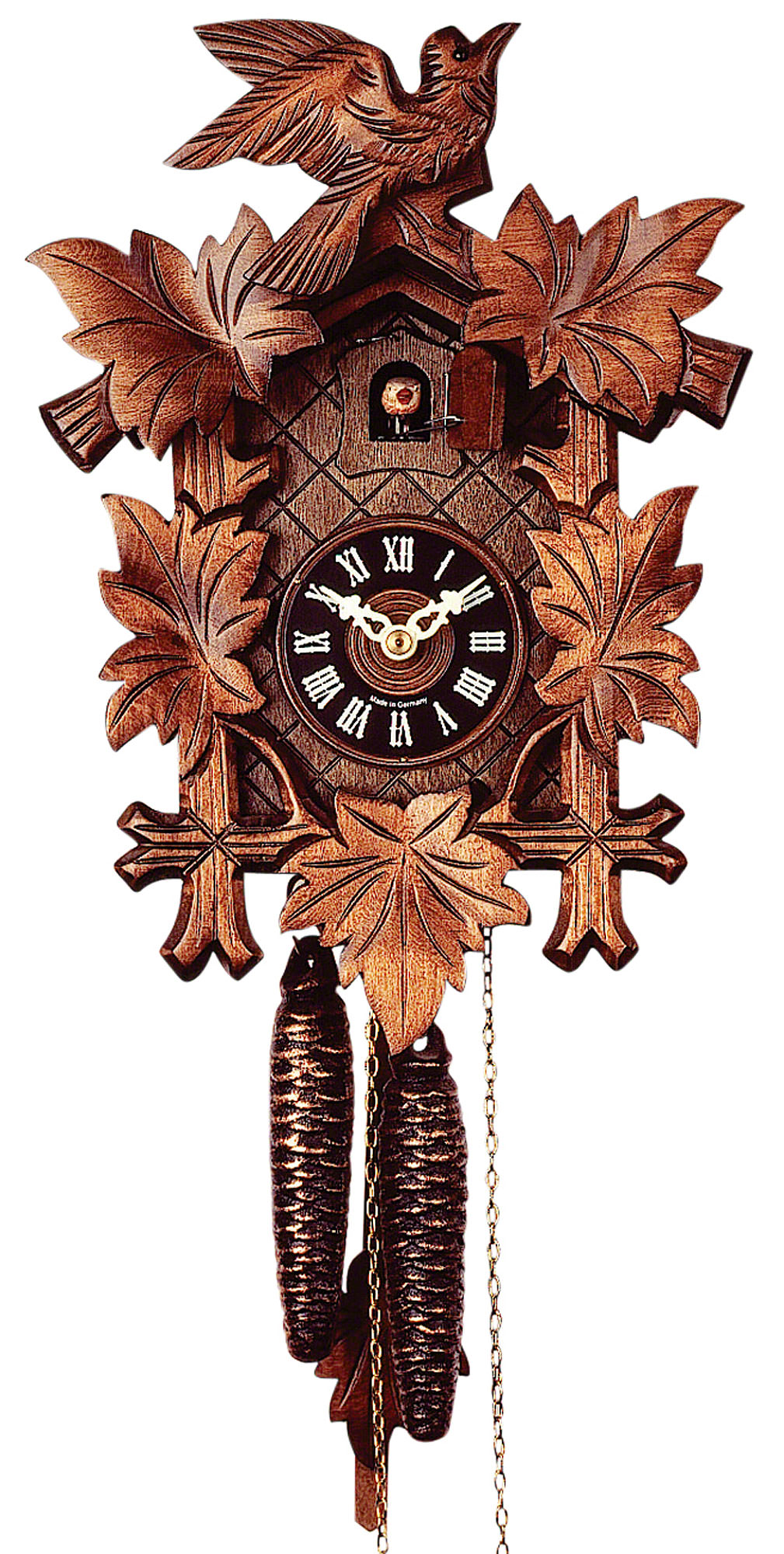 Cuckoo Clock 1 Day Movement Carved Style 28cm By Rombach Haas 1220