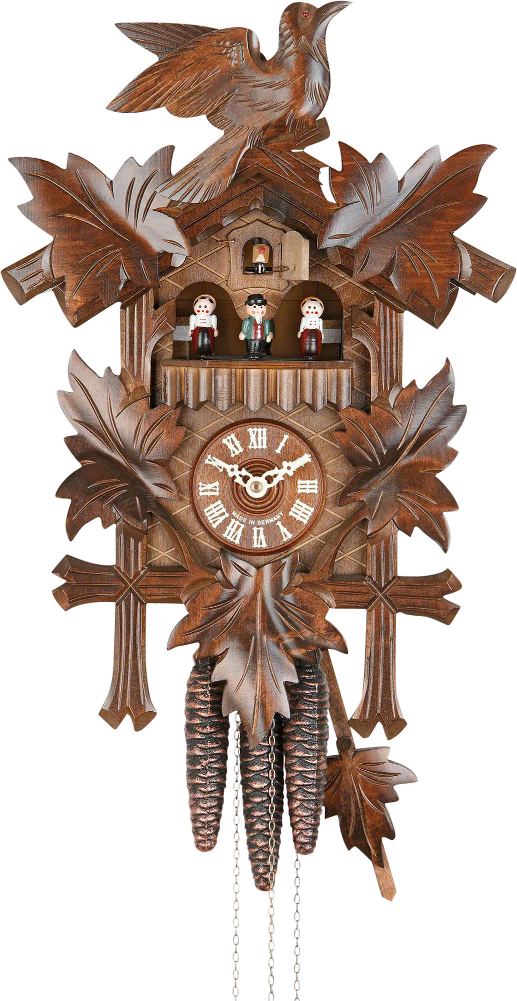 Cuckoo Clock 1-day-movement Carved-Style 36cm by Hekas ...