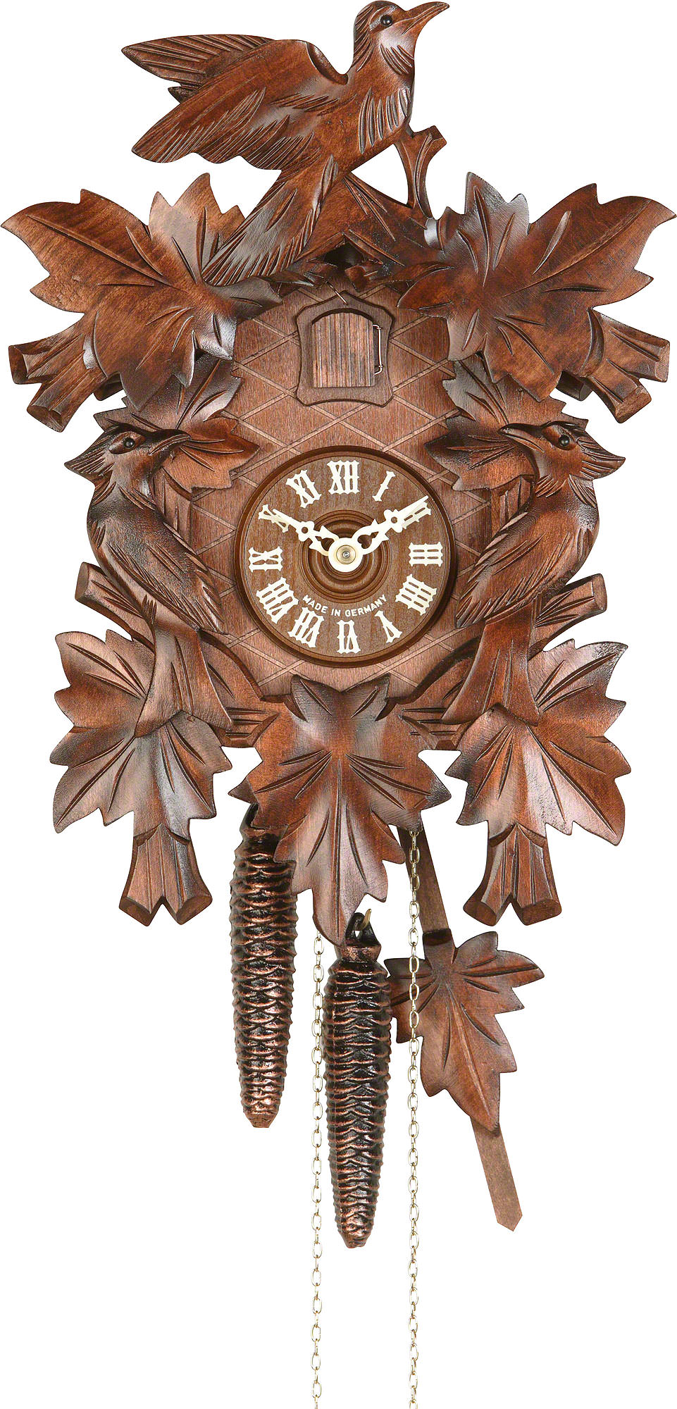 Cuckoo clock 1 day movement carved style 40cm by hekas How to make a cuckoo clock