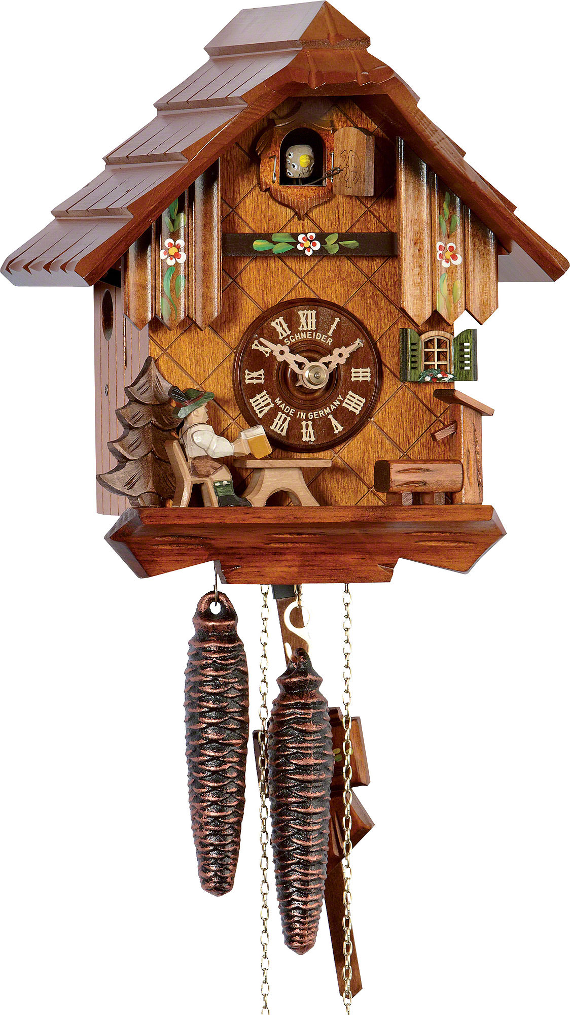 Cuckoo Clock 1-day-movement Chalet-Style 22cm by Anton ...