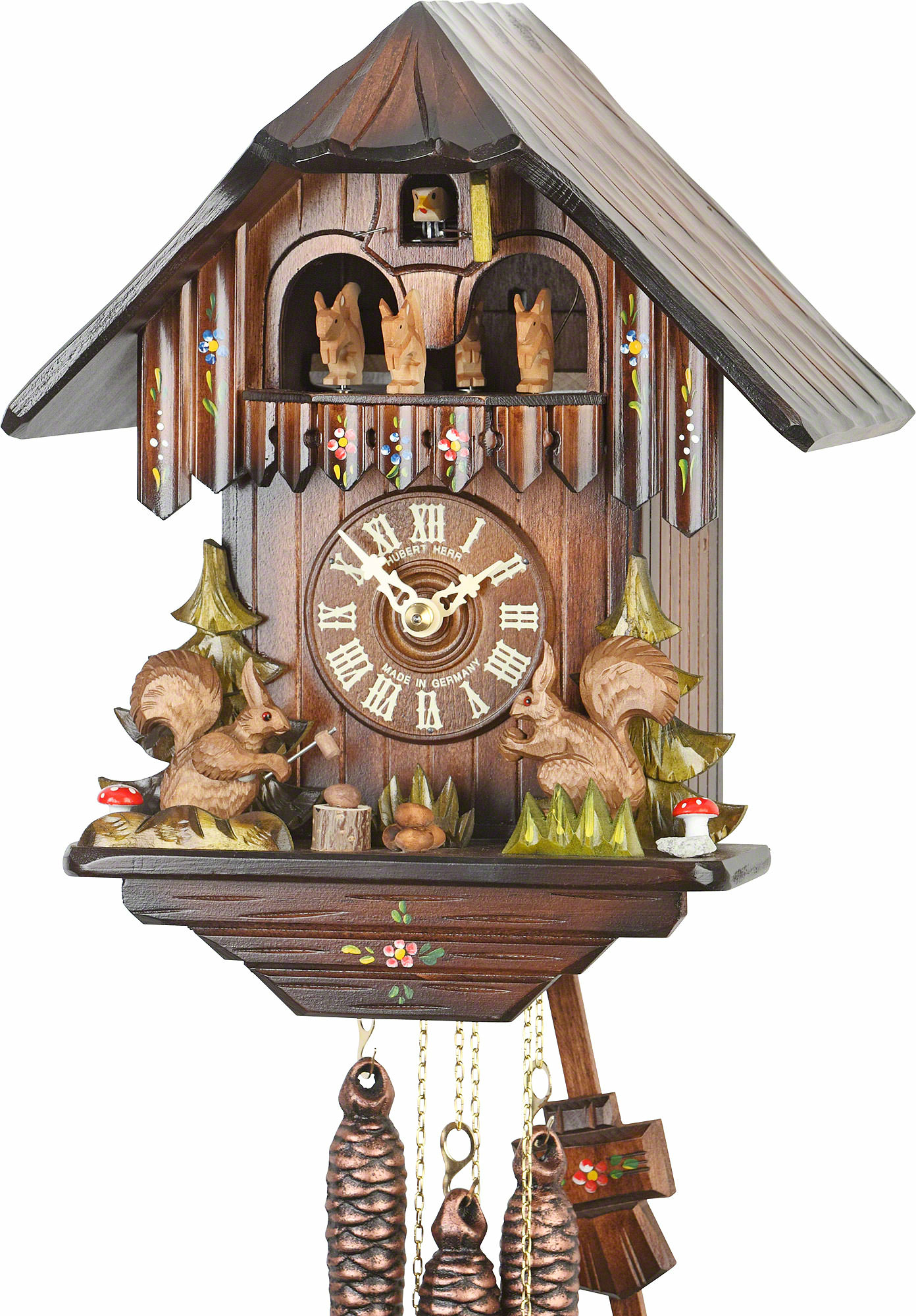 Cuckoo Clock 1-day-movement Chalet-Style 30cm by Hubert ...