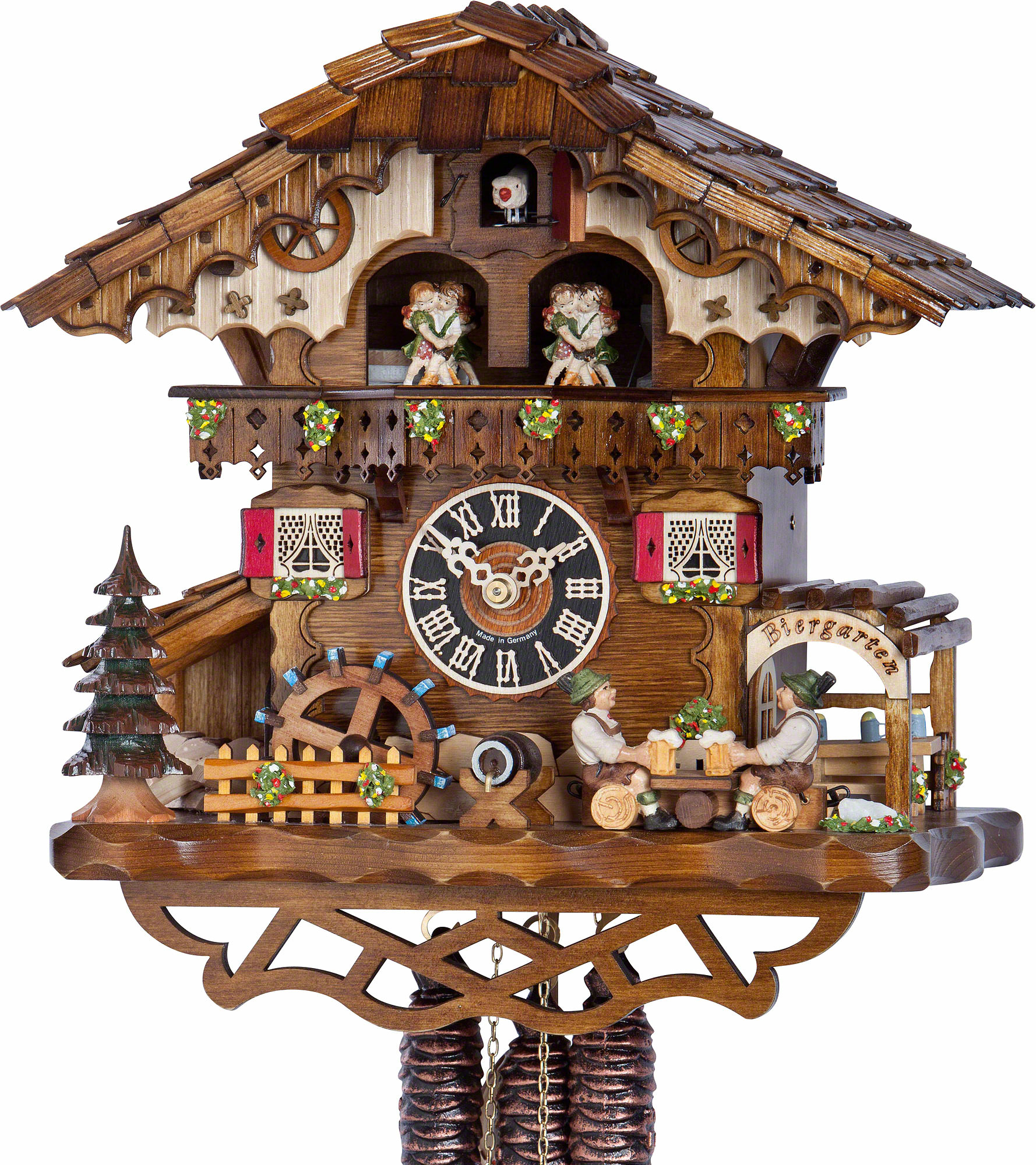 Cuckoo Clock 1 Day Movement Chalet Style 32cm By H Nes 6259t