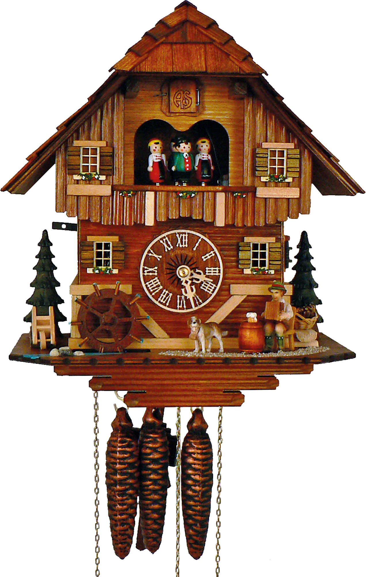 Cuckoo Clock 1 Day Movement Chalet Style 33cm By Anton