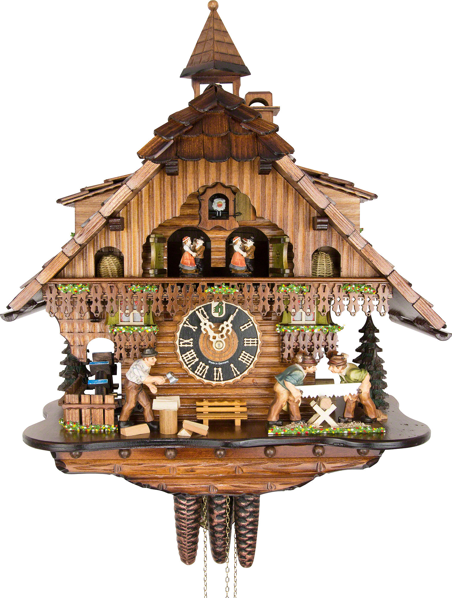 Cuckoo clock 1 day movement chalet style 46cm by h nes 6275t How to make a cuckoo clock