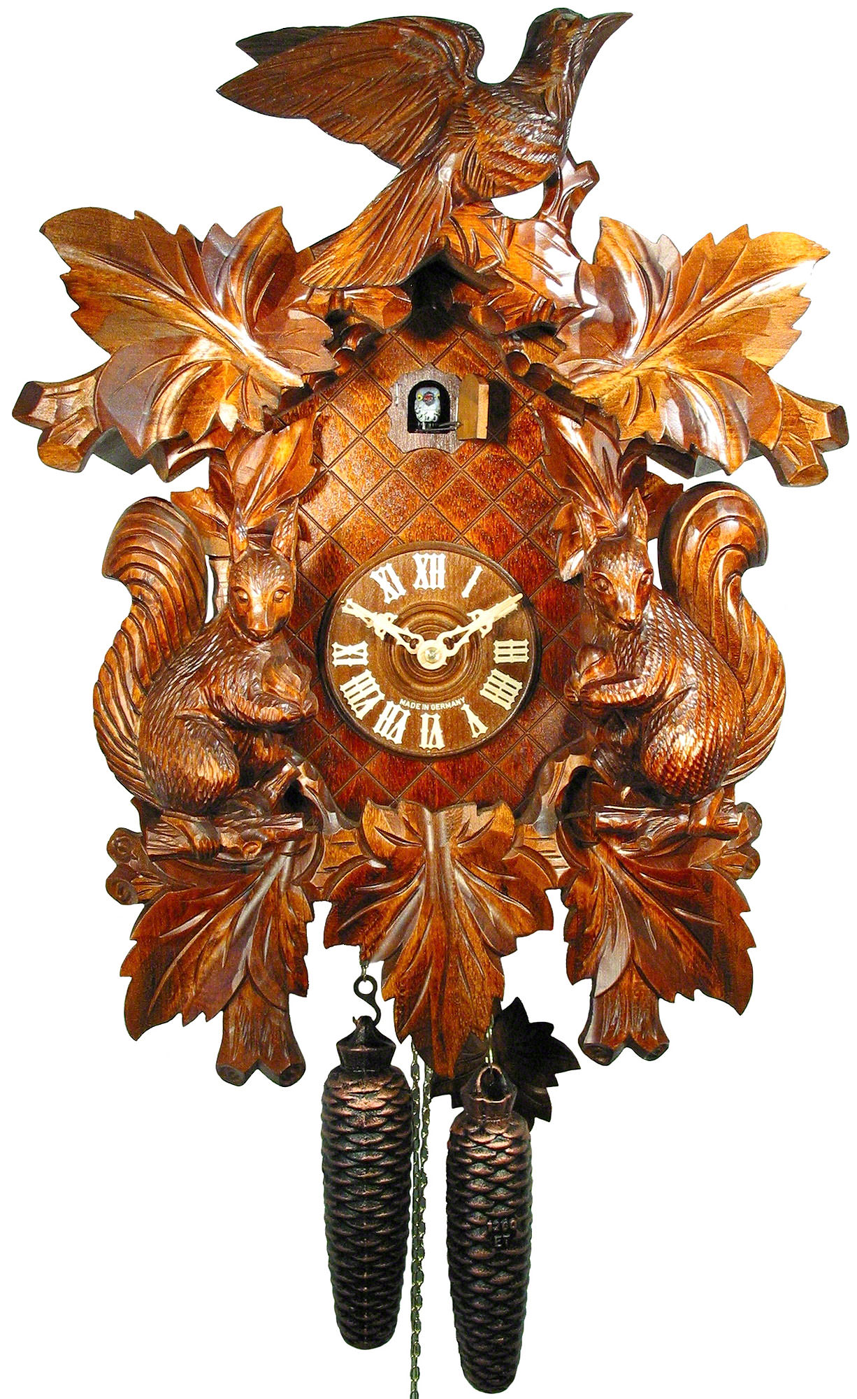 Cuckoo Clock 8-day-movement Carved-Style 50cm by August ...