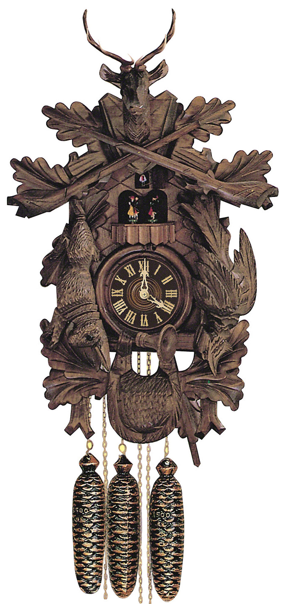 Cuckoo Clock 8 Day Movement Carved Style 60cm By Anton