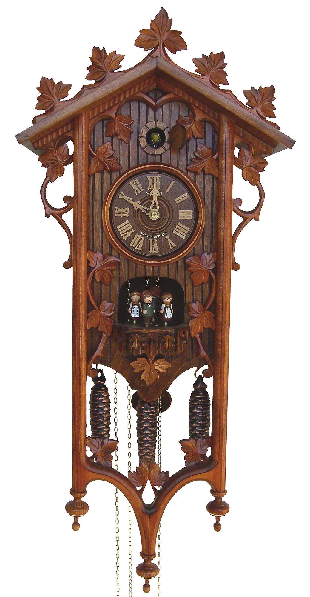 Cuckoo clock 8 day movement carved style 68cm by anton How to make a cuckoo clock