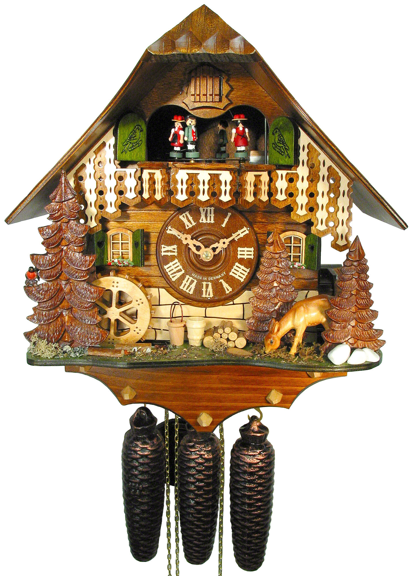 Cuckoo Clock 8 Day Movement Chalet Style 35cm By August
