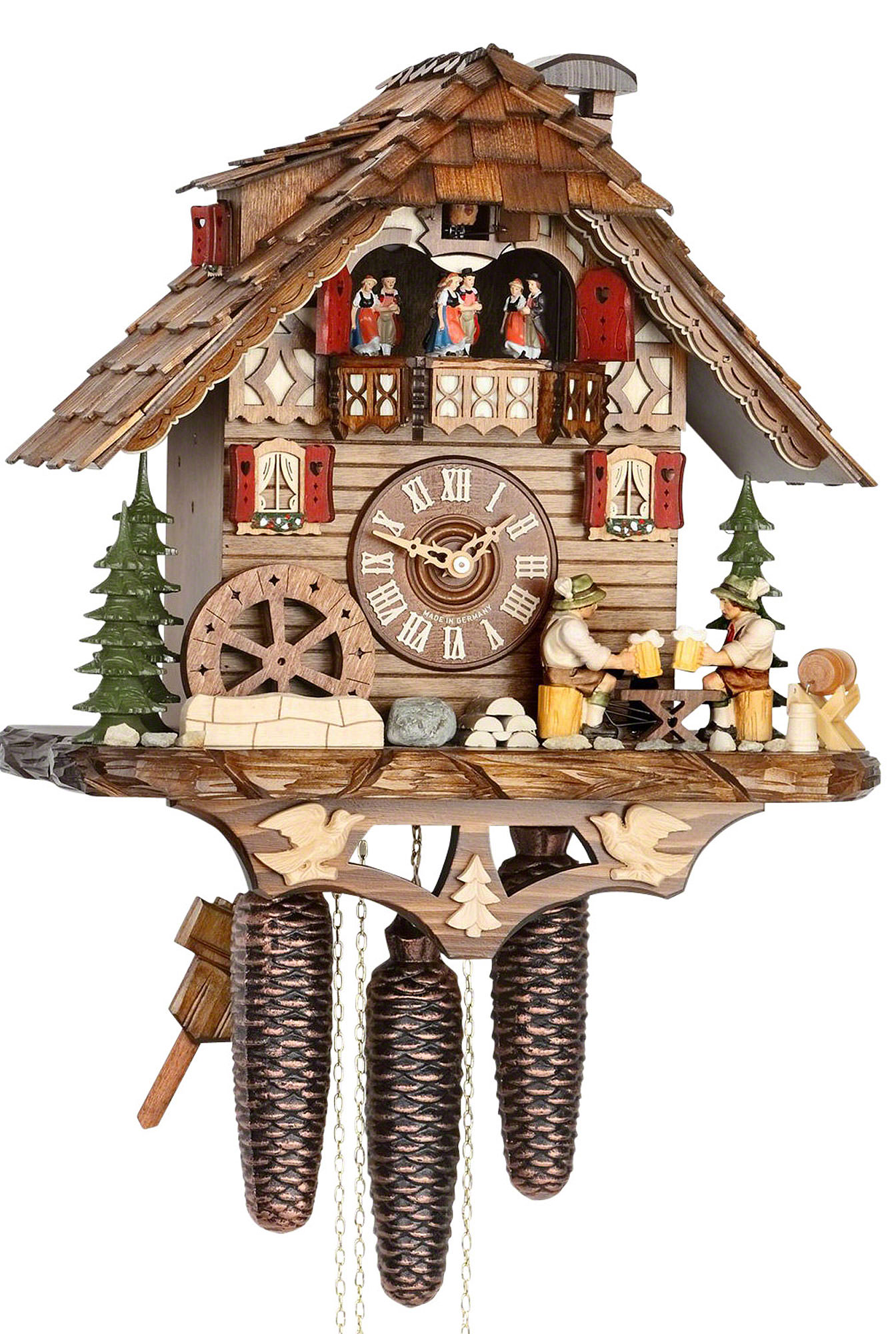 Cuckoo clock 8 day movement chalet style 38cm by hekas How to make a cuckoo clock