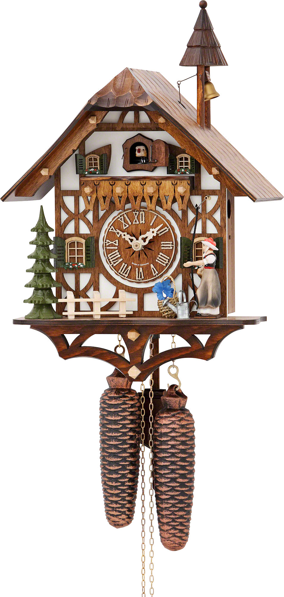 Cuckoo Clock 8-day-movement Chalet-Style 39cm by Hekas ...