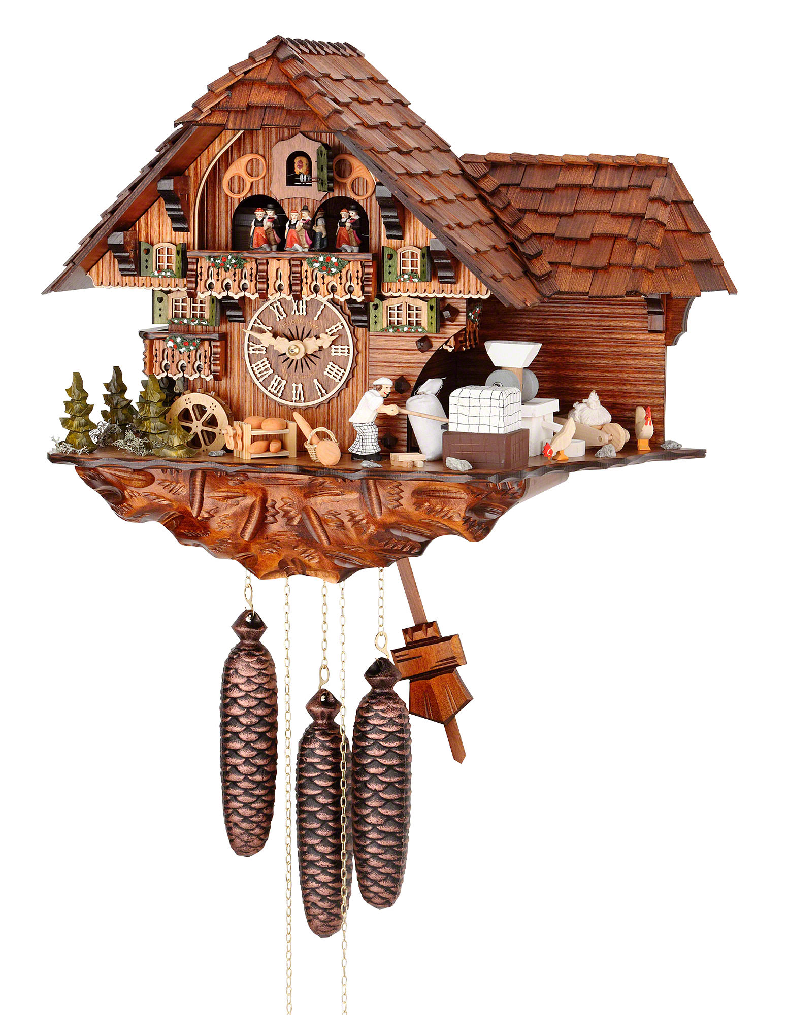 Cuckoo Clock 8 Day Movement Chalet Style 40cm By Hubert