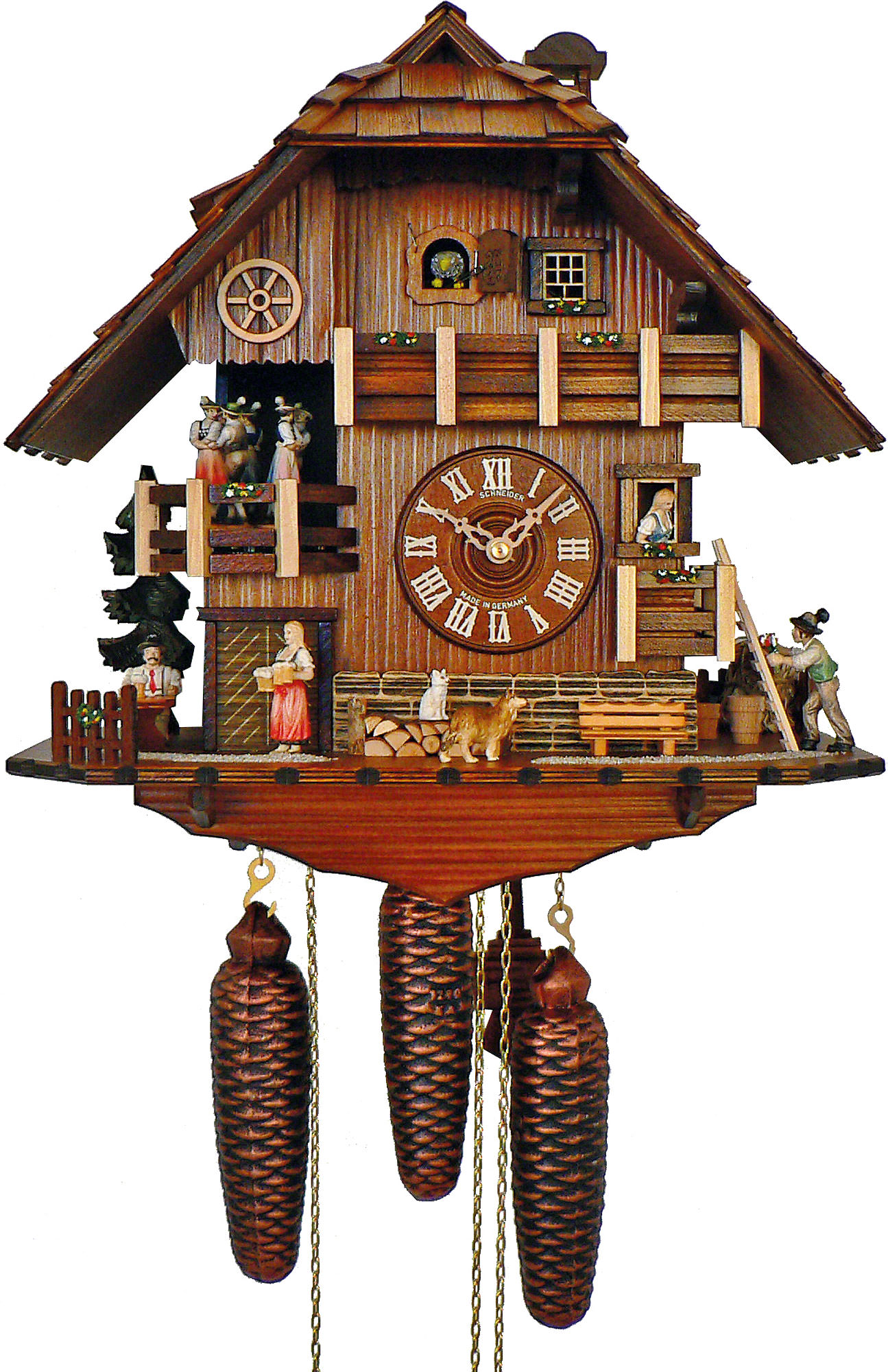 Cuckoo clock 8 day movement chalet style 41cm by anton How to make a cuckoo clock