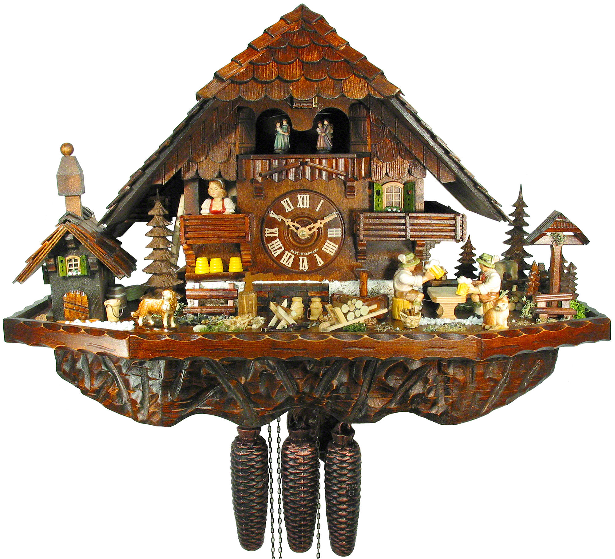 cuckoo clock 8 day movement chalet style 42cm by august schwer