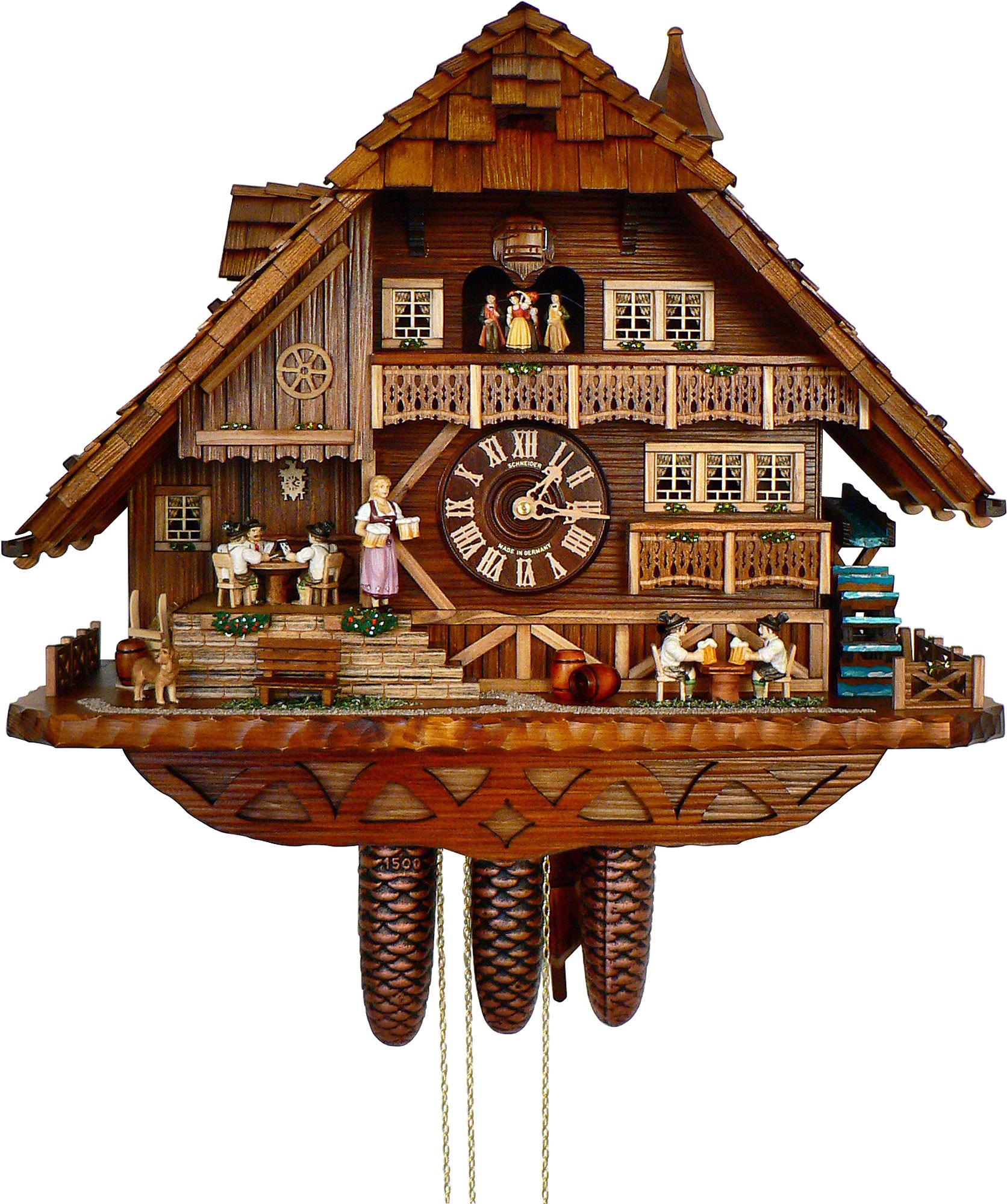 Cuckoo clock 8 day movement chalet style 52cm by anton How to make a cuckoo clock
