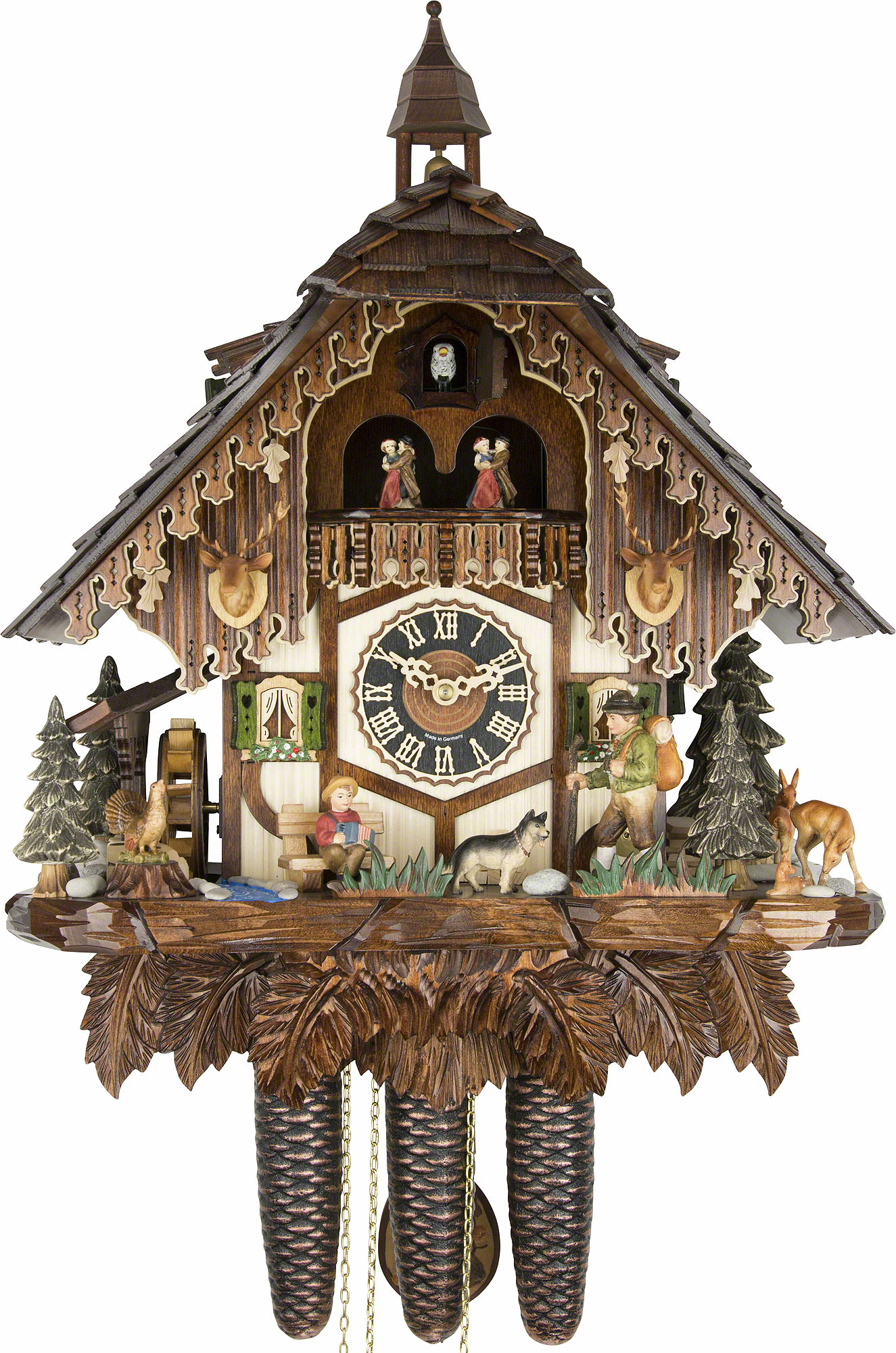 Cuckoo Clock 8 Day Movement Chalet Style 54cm By H 246 Nes