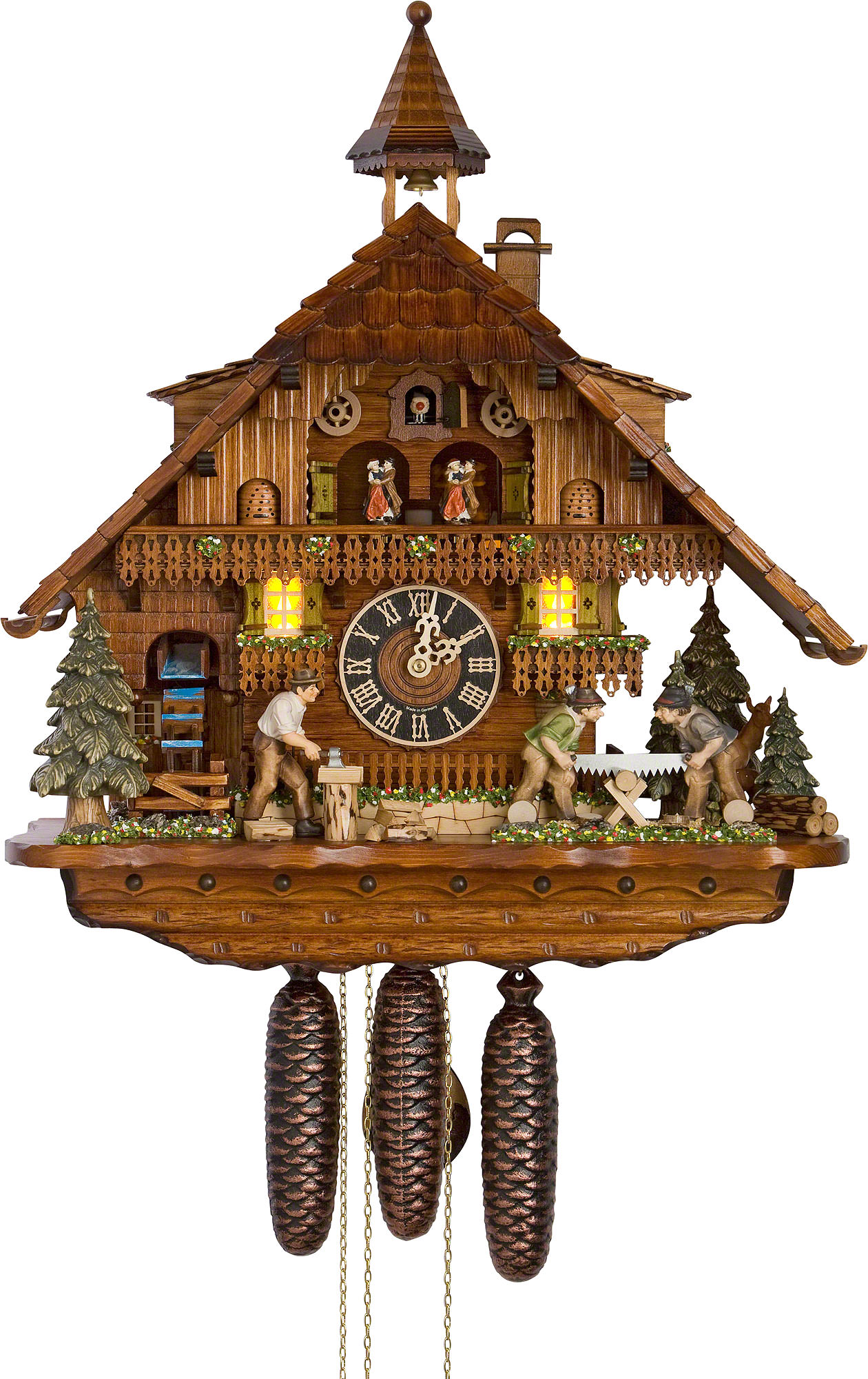 Cuckoo clock 8 day movement chalet style 55cm by h nes How to make a cuckoo clock