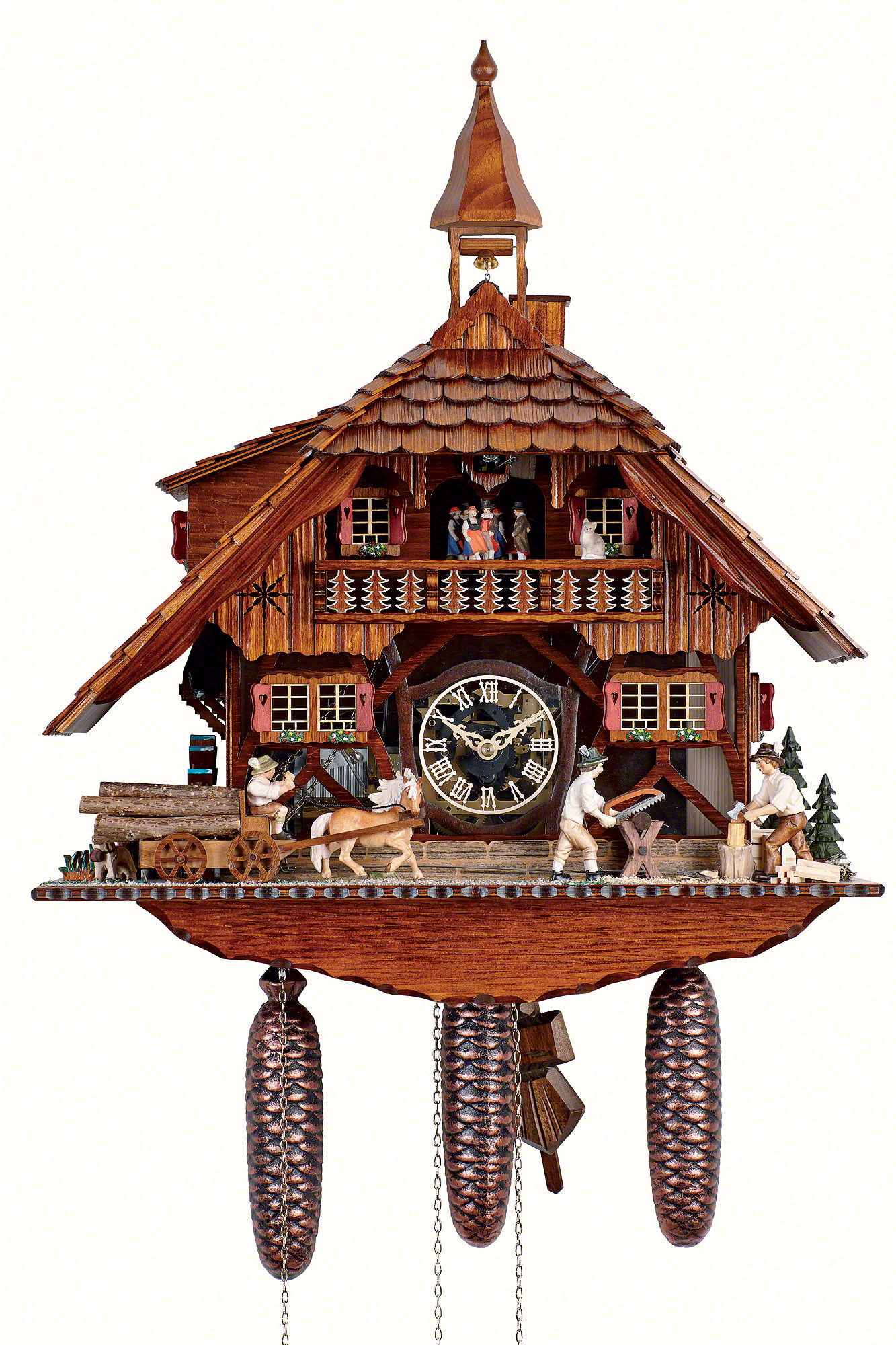 Cuckoo Clock 8-day-movement Chalet-Style 58cm by Anton ...