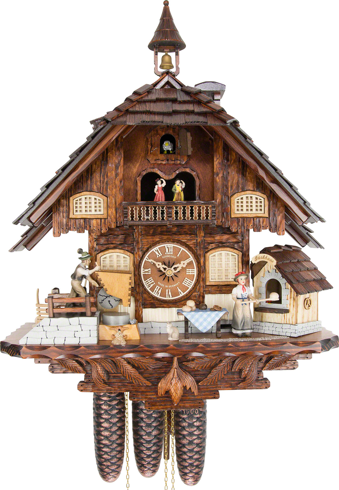 Cuckoo Clock 8 Day Movement Chalet Style 60cm By Anton