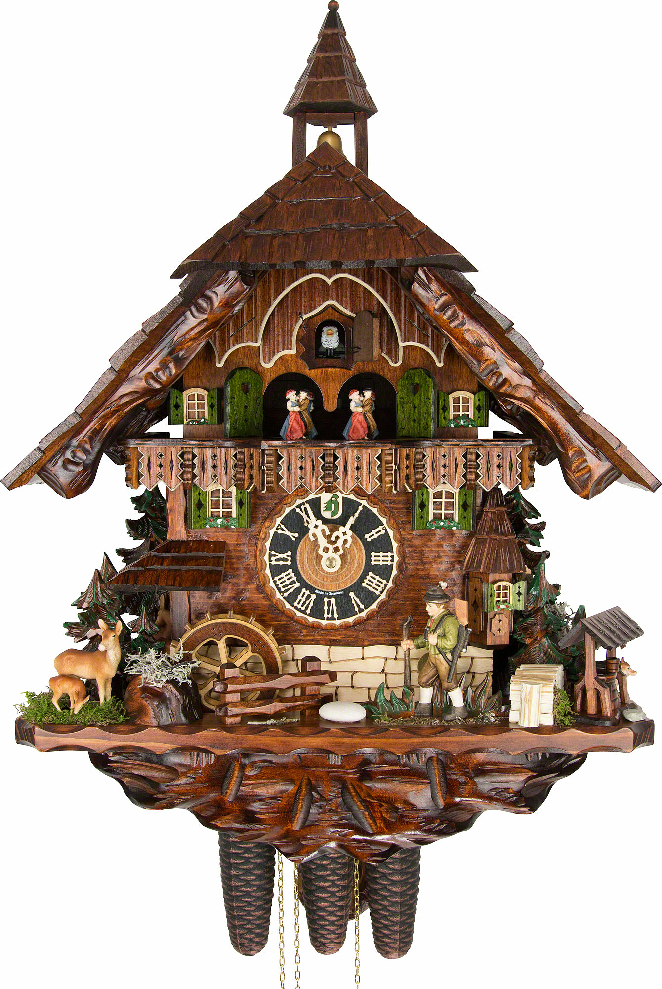Cuckoo clock 8 day movement chalet style 62cm by h nes How to make a cuckoo clock