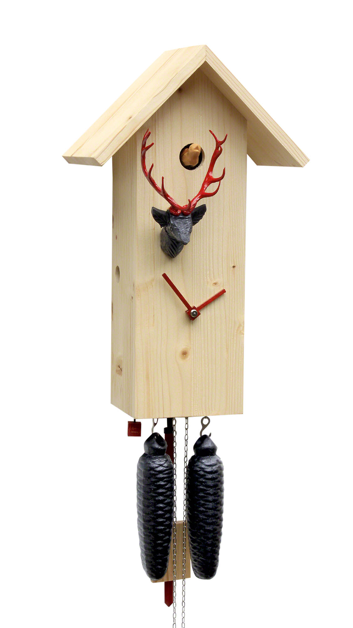 Cuckoo Clock 8 Day Movement Modern Art Style 41cm By Rombach Haas Slm3h 11