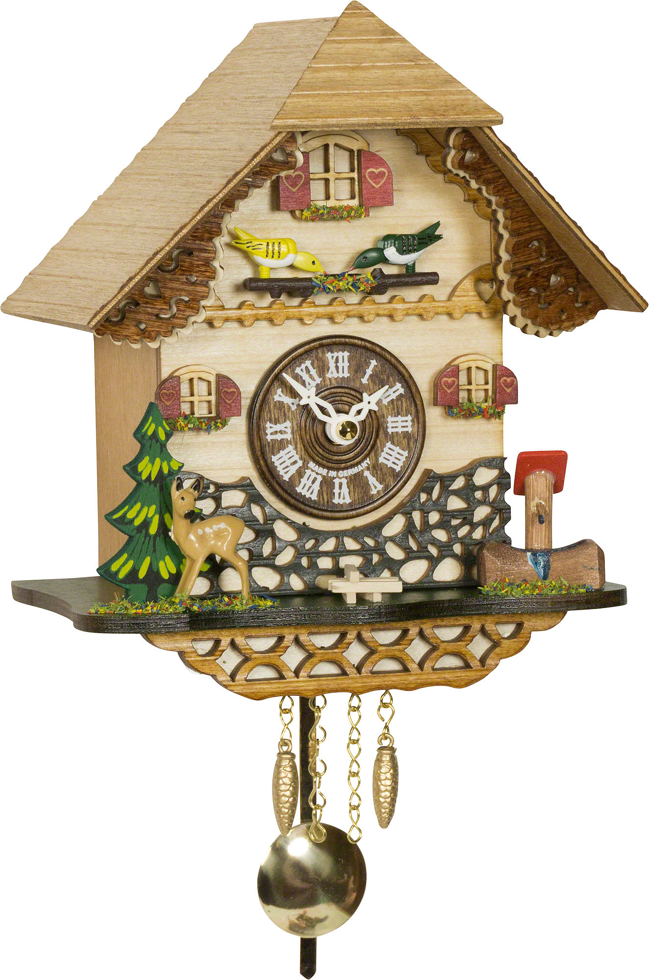 Cuckoo clock quartz movement black forest pendulum clock style 18cm by trenkle uhren 2059 pq - Cuckoo clock pendulum ...