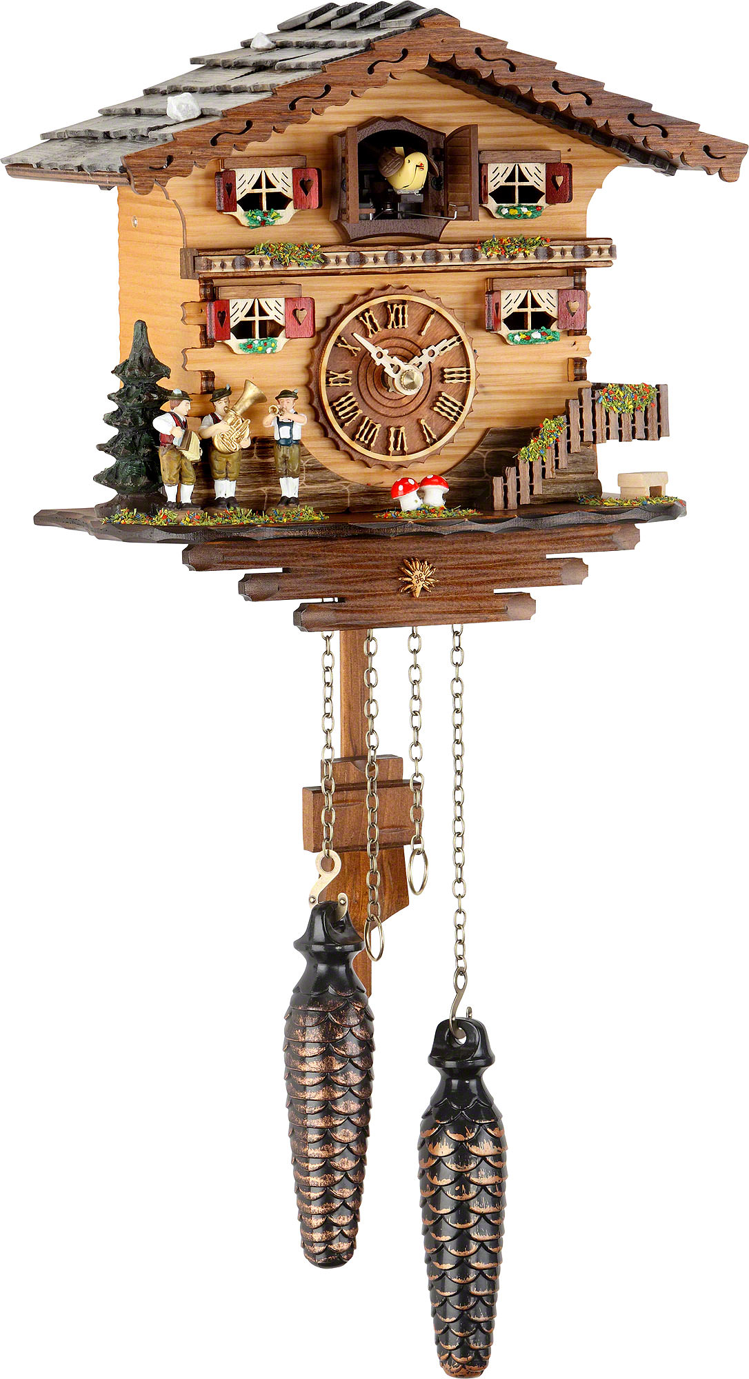 cuckoo clock instructions with Cuckoo Clock Quartz Movement Chalet Style 19cm By Trenkle Uhren  709 on 1526 furthermore Black White Alarm Clock likewise Stock Photo Triberg Im Schwarzwald Watch Shop On The Main Road With The Worlds 126191117 furthermore Cuckoo Clock 8 Day Movement Chalet Style 34cm By Cuckoo Palace  1033 further Cuckoo Clock Quartz Movement Chalet Style 24cm By Trenkle Uhren  896.