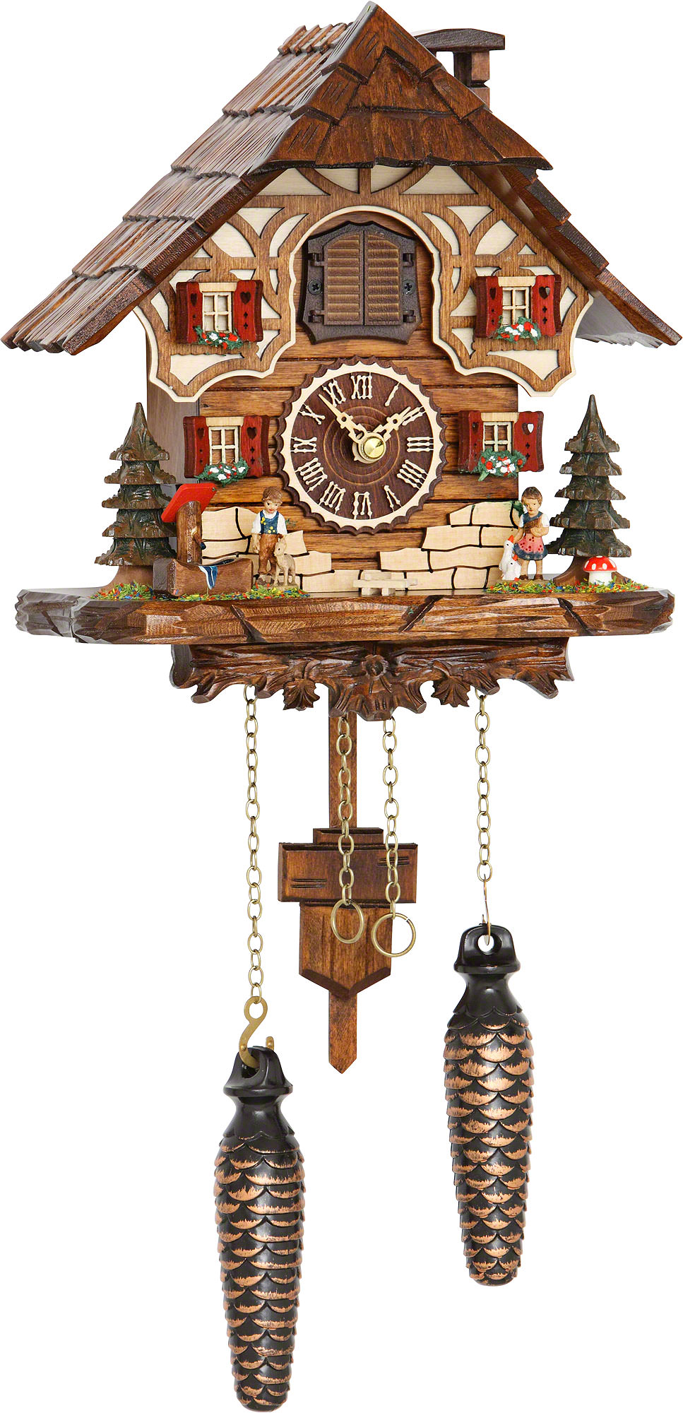 Cuckoo Clock Quartz-movement Chalet-Style 24cm by Trenkle ...
