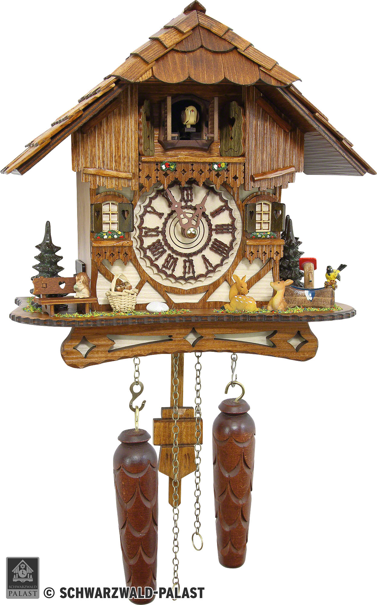 Cuckoo Clock Quartz-movement Chalet-Style 26cm by Cuckoo ...