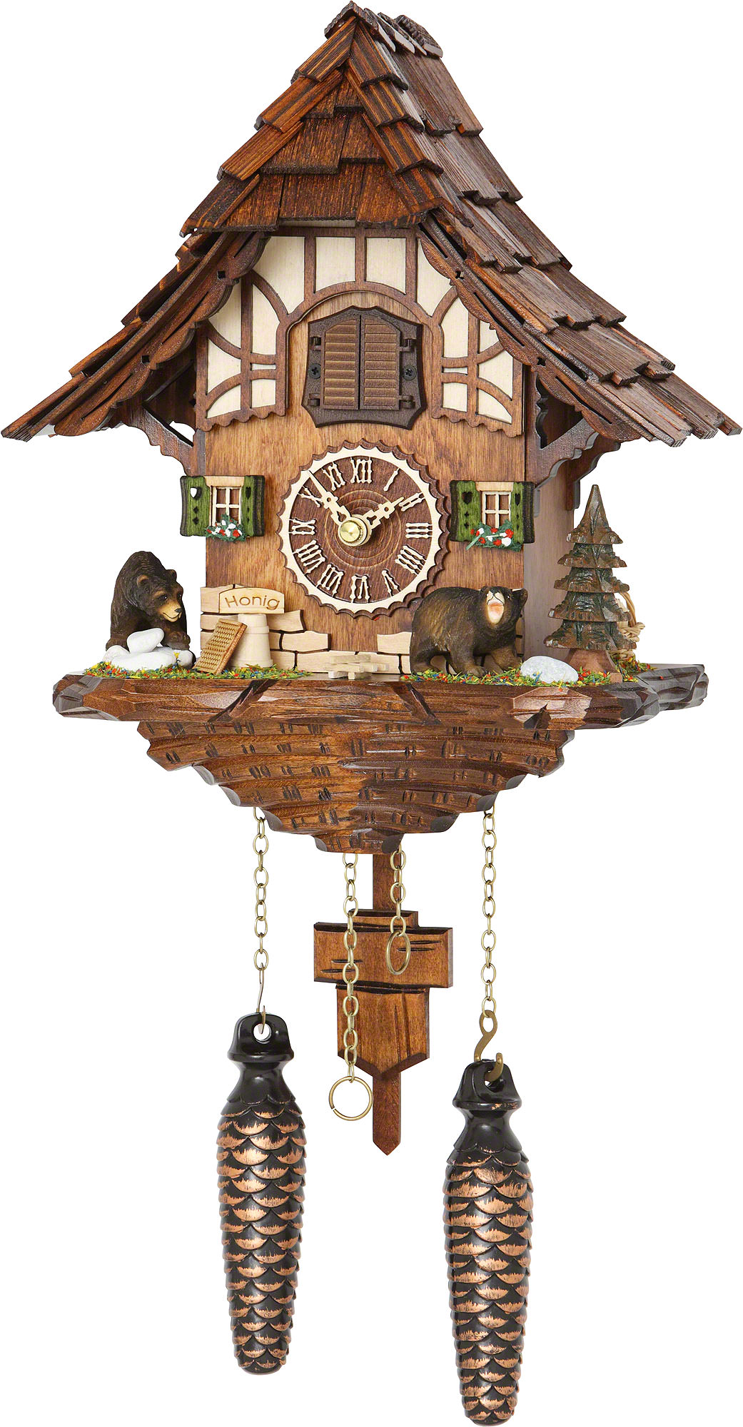 Cuckoo clock quartz movement chalet style 28cm by trenkle How to make a cuckoo clock