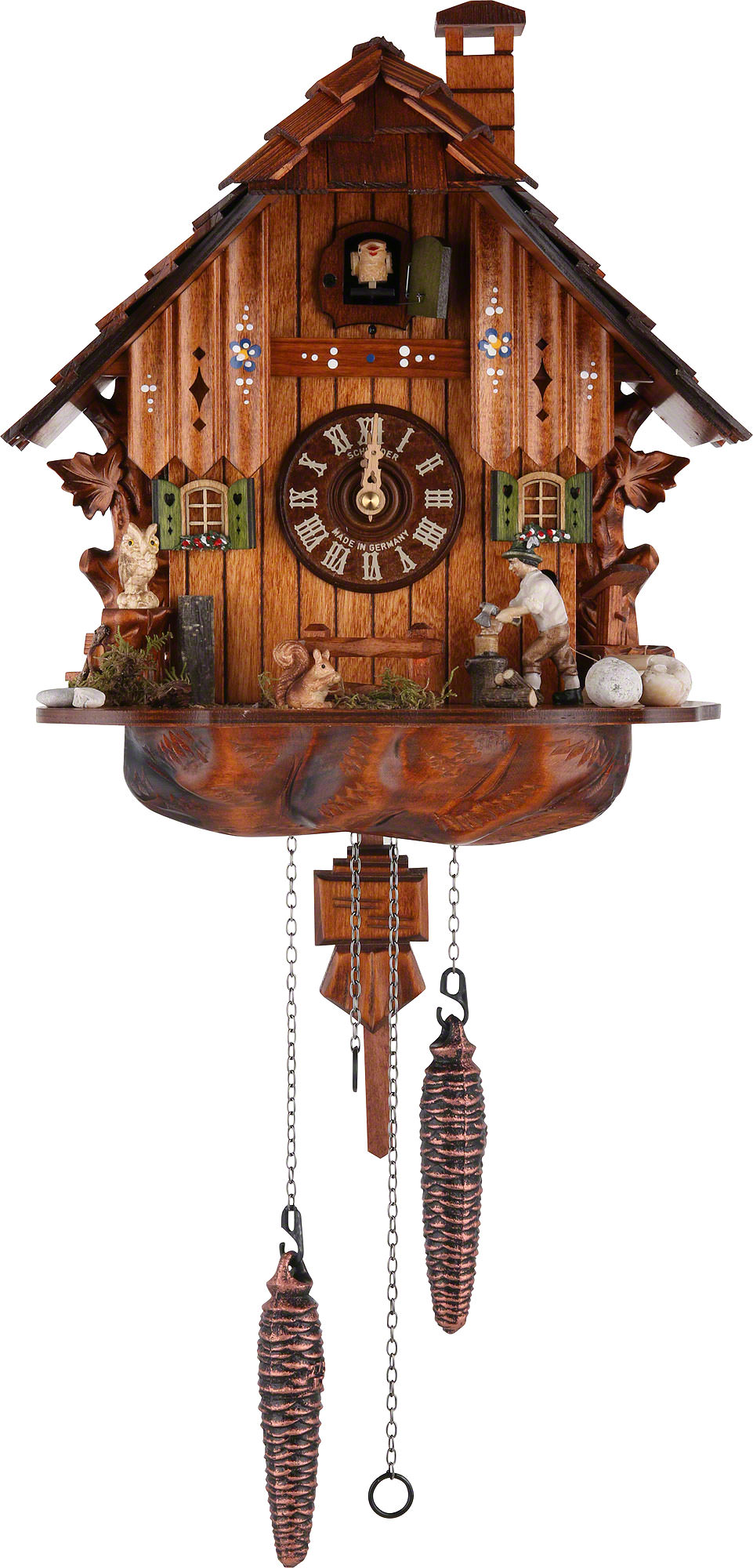 Cuckoo clock quartz movement chalet style 30cm by anton How to make a cuckoo clock