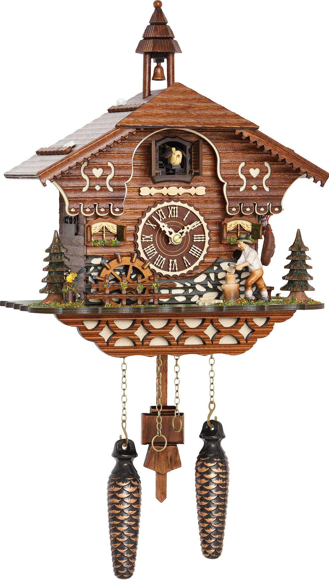 Cuckoo Clock Quartz-movement Chalet-Style 30cm by Trenkle ...