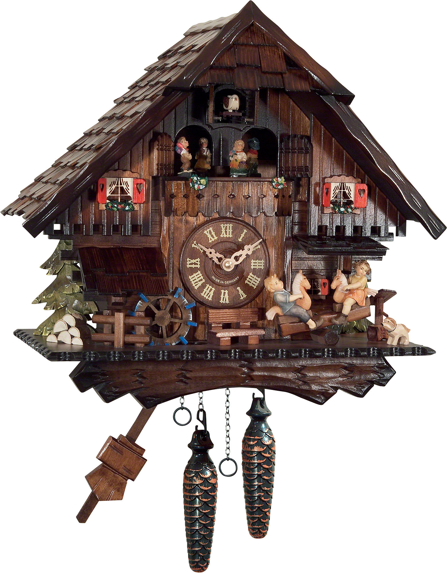 Cuckoo clocks authentic german cuckoo clock shop cuckoo clock quartz movement chalet style 36cm by engstler amipublicfo Gallery