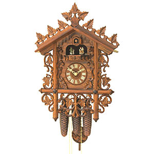 Antique Black Forest Clocks Antique replica clock 8-day-movement 40cm by Rombach & Haas