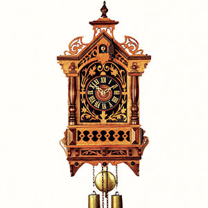 Antique Black Forest Clocks Antique replica clock 8-day-movement 45cm by Rombach & Haas