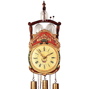 Antique Black Forest Clocks Antique replica clock 8-day-movement 50cm by Rombach & Haas