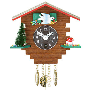 Black Forest Souvenir Clocks Black Forest Pendulum Clock Quartz-movement 10cm by Trenkle Uhren