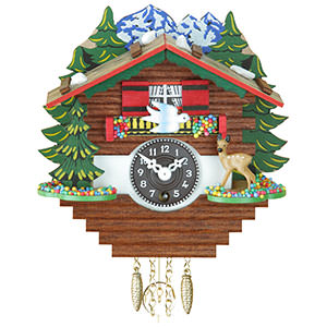 Black Forest Souvenir Clocks & Weather Houses Black Forest Pendulum Clock Quartz-movement 14cm by Trenkle Uhren