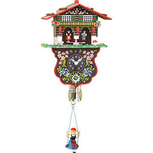 Black Forest Souvenir Clocks & Weather Houses Black Forest Swinging Doll Clock 1-day-spring-movement 19cm by Trenkle Uhren