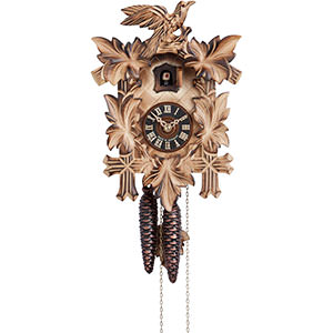 Carved Cuckoo Clocks Cuckoo Clock 1-day-movement Carved-Style 20cm by Hönes