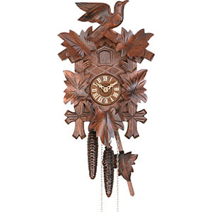 Carved Cuckoo Clocks Cuckoo Clock 1-day-movement Carved-Style 21cm by Hekas