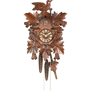 Carved Cuckoo Clocks Cuckoo Clock 1-day-movement Carved-Style 26cm by Hekas